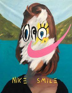 """John Paul Fauves """"Nike Smile"""" 165 x 135 cm."""