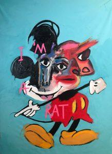 """John Paul Fauves """"I'm a rat"""" 165 x 135 cm."""