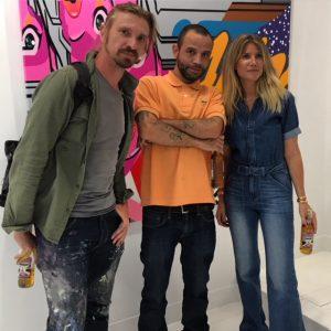 Seth-Globepainter, Pro176 et Géraldine Zberro vernissage Perpetual Ascension de Pro 176 à la Galerie Géraldine Zberro à Paris.