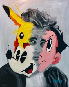 "John Paul Fauves ""Pikachu"" 165 x 135 cm."