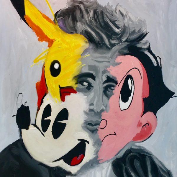 "John Paul Fauves ""Pikachu"" 165 x 135 cm."