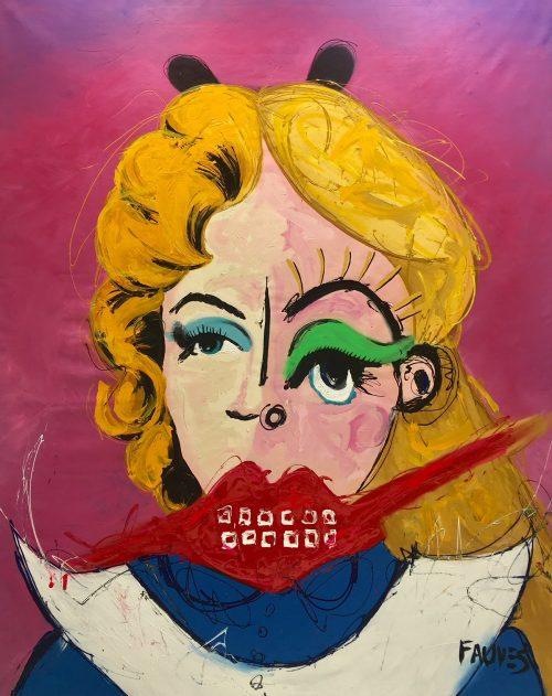 """John Paul fauves """"Maryline Alice"""" 193 x 153 cm."""