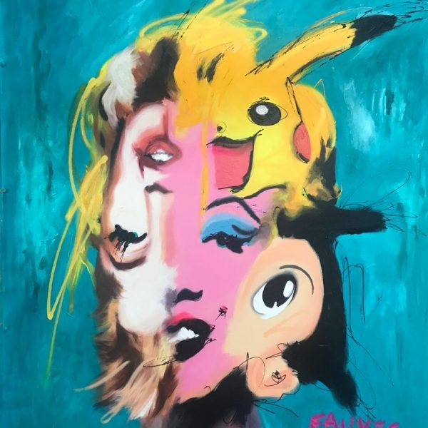 "John Paul Fauves ""Marilyne"" 165 x 135 cm."