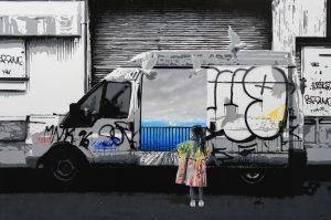"""Kurar """"Wall car"""" 146 x 97 cm."""