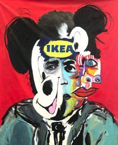"""John Paul Fauves """"Ikea"""" 165 x 135 cm."""