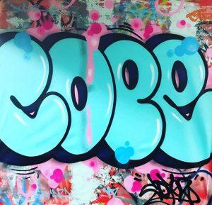 """Cope2 """"bubble"""" 140 x 113 cm."""