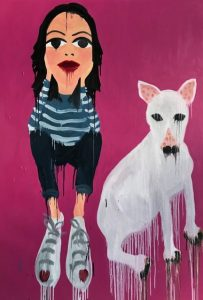 "Phang Gung Fook "" The dog"" 150 x 100 cm."