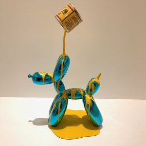 "Jo Suzuki ""happy accident"" blue yellow 27 x 10 x 38 cm"