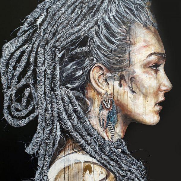 """Antoine Stevens """"Asherah"""" 150 x 100 cm"""
