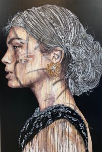 """Antoine Stevens """"Egeria"""" 100 x 150cm."""