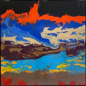 "Tanc ""paysage"" 150 x 150 cm."