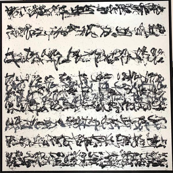 """Tanc """"Ecriture automatique"""" 120 x 120 cm"""