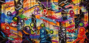 "Psyckoze ""Durty4 Hands""  97 x 195 cm"