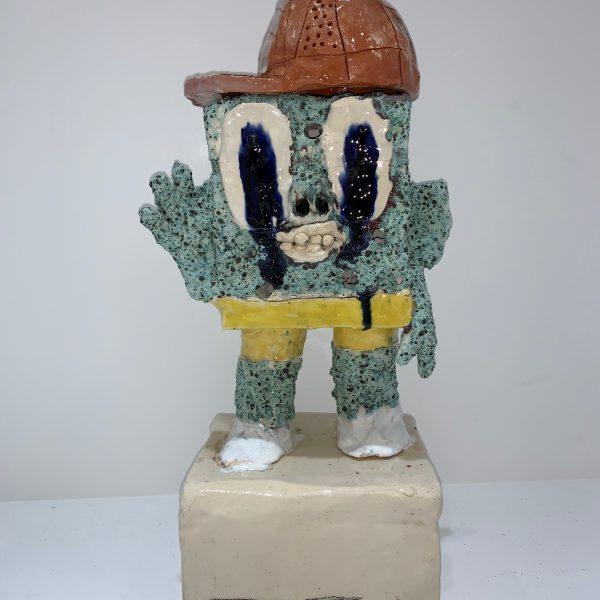"""JC Earl """"Sponge Bob"""" sculpture en céramique 50 x 18 x 14cm."""